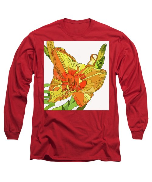Orange Canna Lily Long Sleeve T-Shirt by Jamie Downs