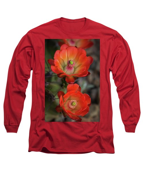 Long Sleeve T-Shirt featuring the photograph Orange Claret Dreams  by Saija Lehtonen