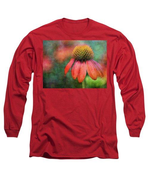 Orange Coneflower 2576 Idp_2 Long Sleeve T-Shirt