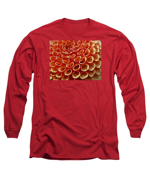 Orange Dahlia Crush Long Sleeve T-Shirt