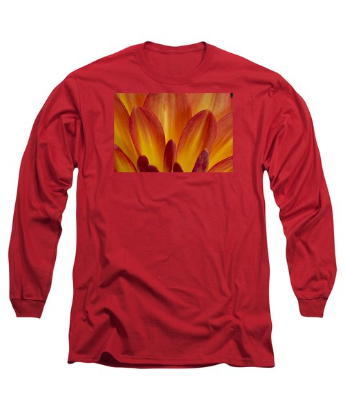 Orange Dahlia Petals Long Sleeve T-Shirt