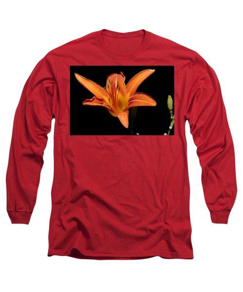 Orange Day-lily Long Sleeve T-Shirt