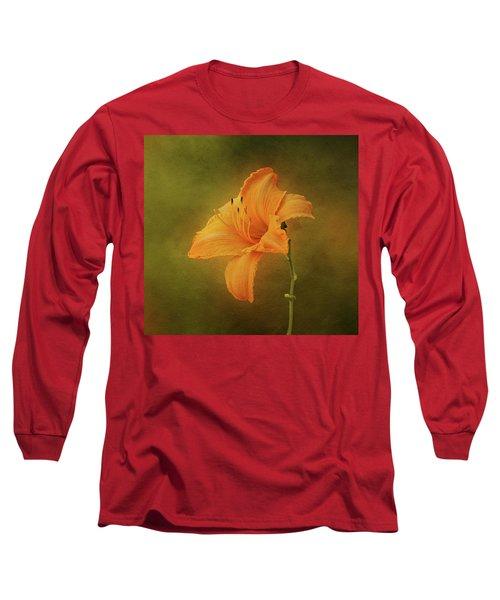 Orange Daylily Long Sleeve T-Shirt