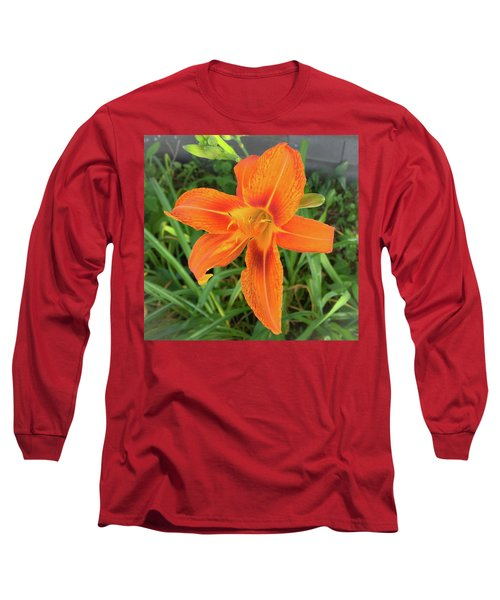 Long Sleeve T-Shirt featuring the photograph Orange Flower by Andrea Love