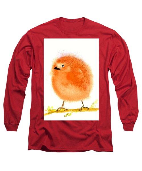 Orange Fluff Long Sleeve T-Shirt