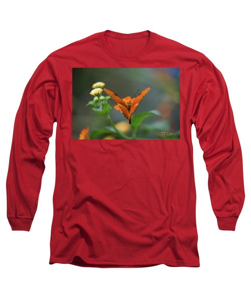 Orange Is The New Butterfly Long Sleeve T-Shirt