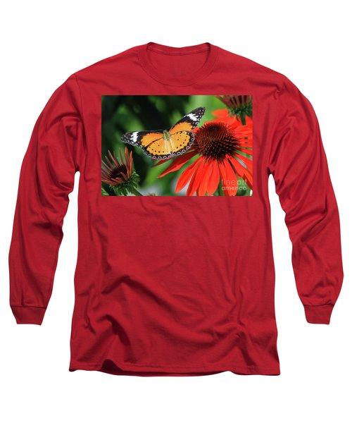 Orange Lacewing Long Sleeve T-Shirt