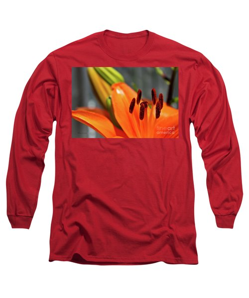 Orange Lily Close Up Long Sleeve T-Shirt