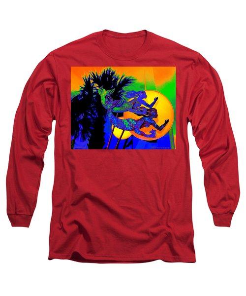 Orange Moon Synchronicity Long Sleeve T-Shirt
