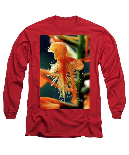 Fringed Orange Orchid Long Sleeve T-Shirt