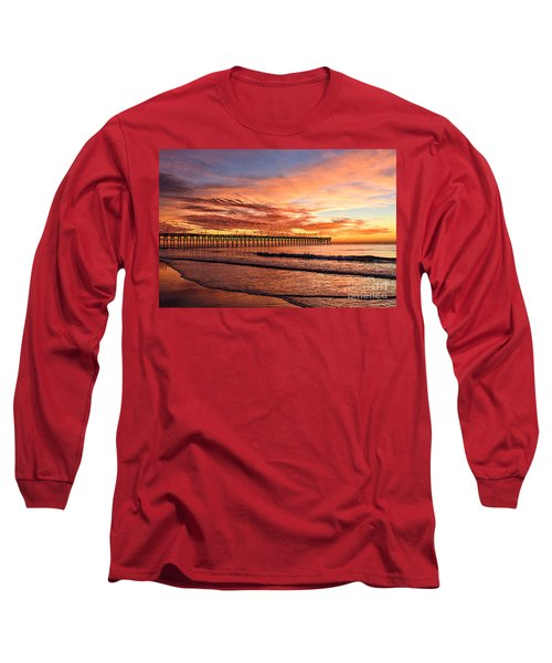 Orange Pier Long Sleeve T-Shirt