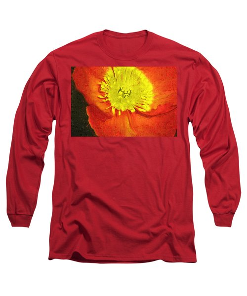 Long Sleeve T-Shirt featuring the photograph Orange Poppy by Donna Bentley