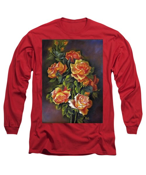 Orange Roses Long Sleeve T-Shirt