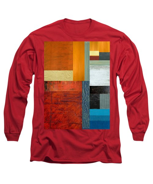 Long Sleeve T-Shirt featuring the painting Orange Study With Compliments 1.0 by Michelle Calkins
