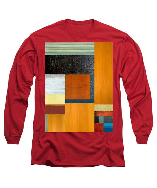 Long Sleeve T-Shirt featuring the painting Orange Study With Compliments 2.0 by Michelle Calkins
