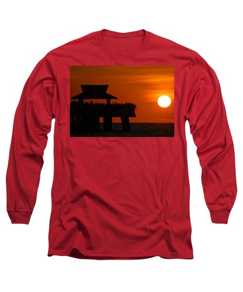 Orange Sunset In Naples Long Sleeve T-Shirt