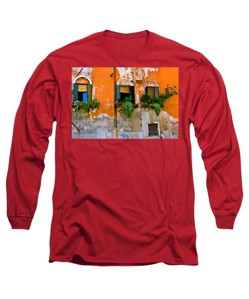 Orange Wall Long Sleeve T-Shirt by Harry Spitz