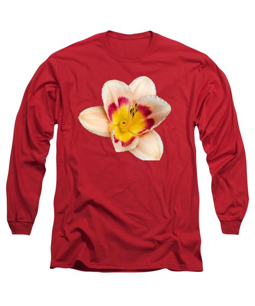 Orange Yellow Lilies Long Sleeve T-Shirt by Christina Rollo