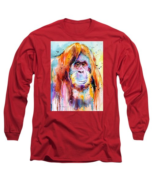 Orangutan  Long Sleeve T-Shirt by Slavi Aladjova