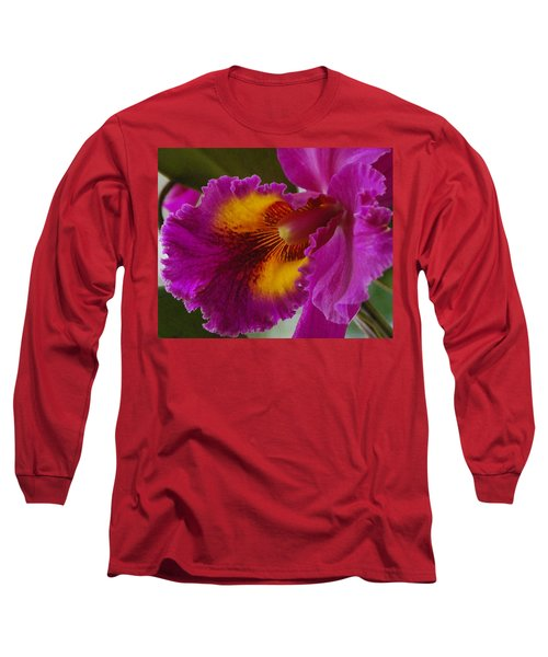 Long Sleeve T-Shirt featuring the photograph Orchid In The Wild by Debbie Karnes