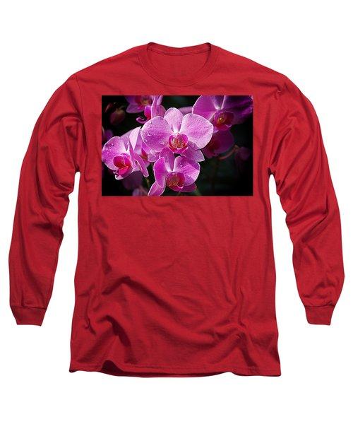 Orchids 4 Long Sleeve T-Shirt by Karen McKenzie McAdoo