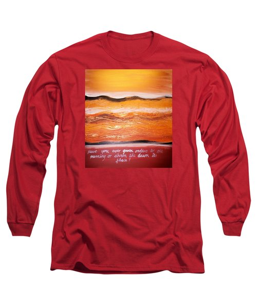 Long Sleeve T-Shirt featuring the painting Orders To The Morning by Winsome Gunning