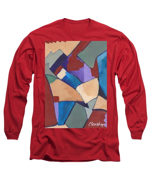 Long Sleeve T-Shirt featuring the painting Organic Abstract Series II by Patricia Cleasby