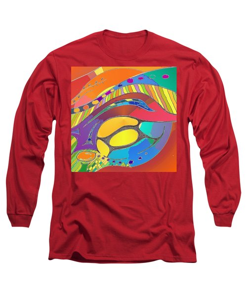 Organic Life Scan Or Cellular Light - Original, Square Long Sleeve T-Shirt