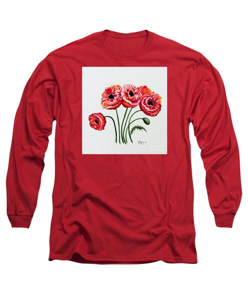 Oriental Poppies Long Sleeve T-Shirt