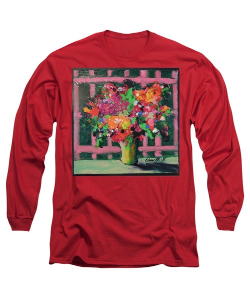 Original Bouquetaday Floral Painting By Elaine Elliott 59.00 Incl Shipping 12x12 On Canvas Long Sleeve T-Shirt