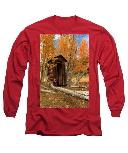 Outhouse In The Aspens Long Sleeve T-Shirt