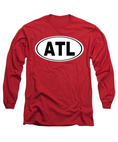 Long Sleeve T-Shirt featuring the photograph Oval Atl Atlanta Georgia Home Pride by Keith Webber Jr