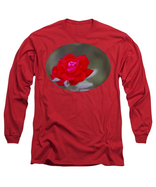 Oval Rose Motif Long Sleeve T-Shirt by Linda Phelps