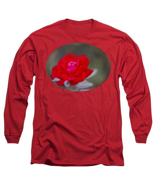 Oval Rose Motif Long Sleeve T-Shirt