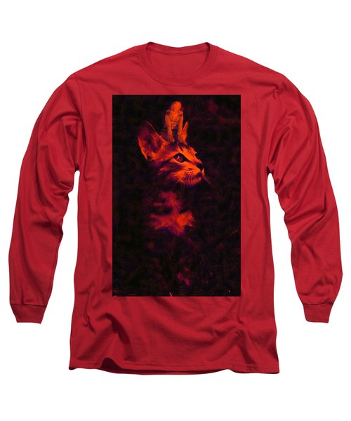 Long Sleeve T-Shirt featuring the digital art Over My Head by Bliss Of Art