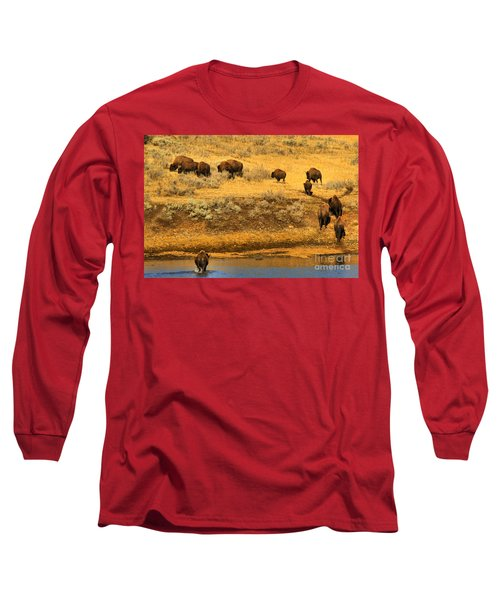 Long Sleeve T-Shirt featuring the photograph Over The River And Up The Hill by Adam Jewell