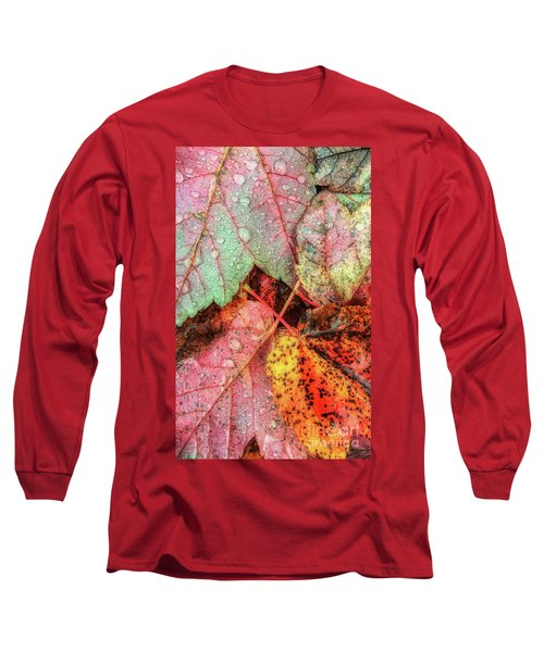 Overnight Rain Leaves Long Sleeve T-Shirt by Todd Breitling