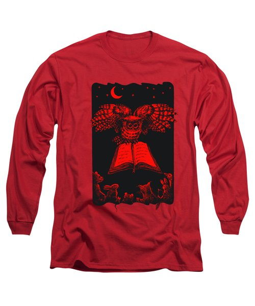 Owl And Friends Redblack Long Sleeve T-Shirt