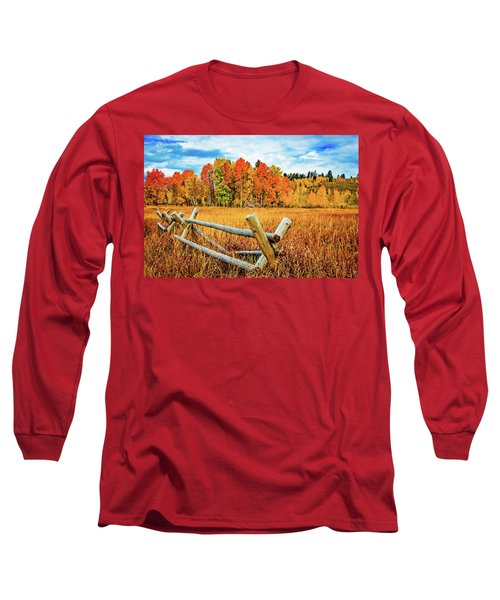 Oxbow Bend Fall Color Long Sleeve T-Shirt