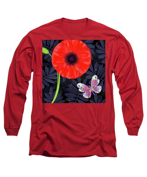 P Is For Pretty Poppy Long Sleeve T-Shirt