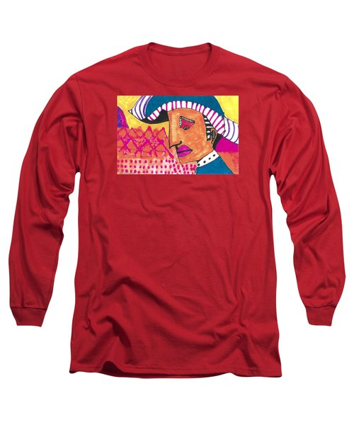 Long Sleeve T-Shirt featuring the painting Pagliacci Tuscany by Don Koester