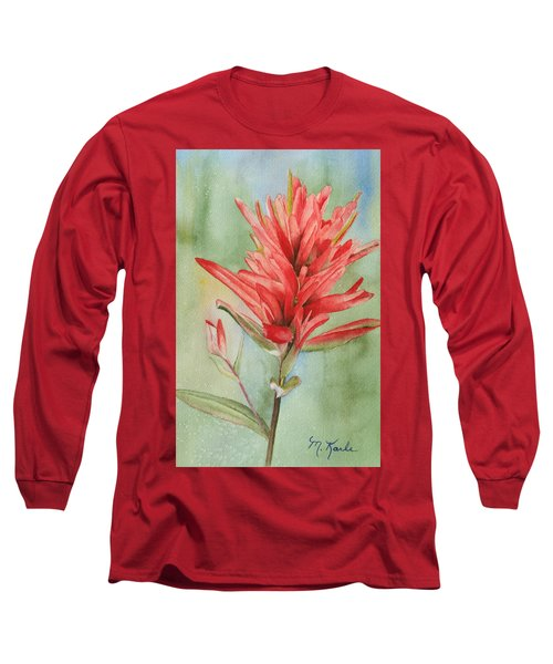 Paintbrush Portrait Long Sleeve T-Shirt