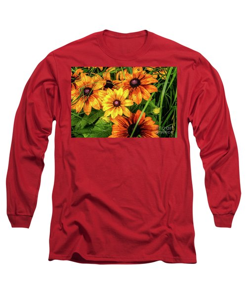 Painted Blossoms Long Sleeve T-Shirt
