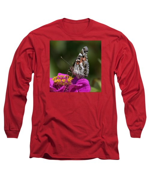 Painted Lady Long Sleeve T-Shirt by David Lester
