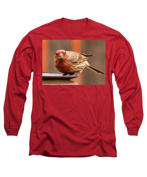 Painted Male Finch Long Sleeve T-Shirt