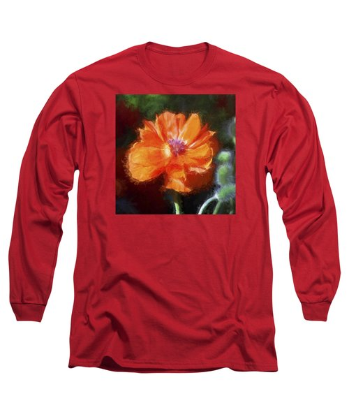 Painted Poppy Long Sleeve T-Shirt