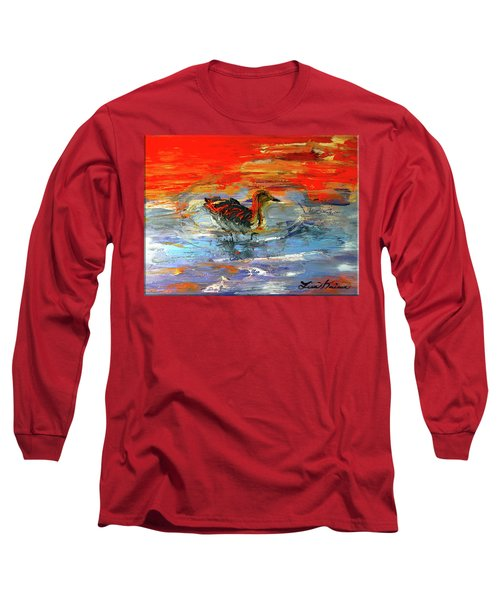 Painterly Escape II Long Sleeve T-Shirt by Lisa Kaiser