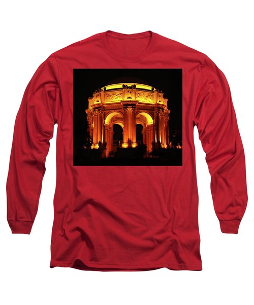 Palace Of Fine Arts - Dome At Night Long Sleeve T-Shirt