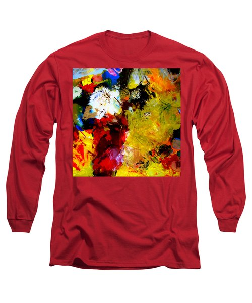 Palette Abstract Square Long Sleeve T-Shirt