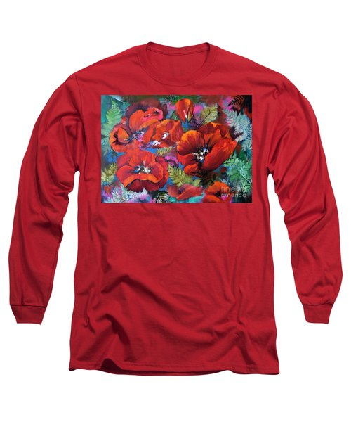 Pamela's Poppies Long Sleeve T-Shirt